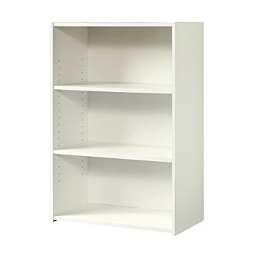 Popular Amazon: Sauder Beginnings 3 Shelf Bookcase, Soft White Regarding Sauder Beginnings 3 Shelf Bookcases (View 6 of 15)