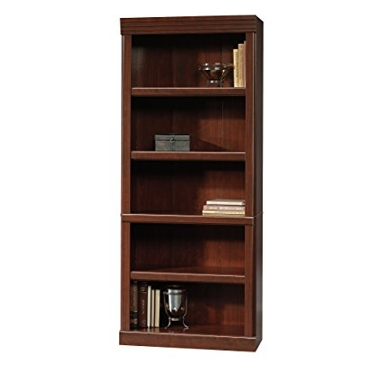 Popular Amazon: Sauder Heritage Hill Open Bookcase, Classic Cherry Intended For Saunders Bookcases (View 4 of 15)
