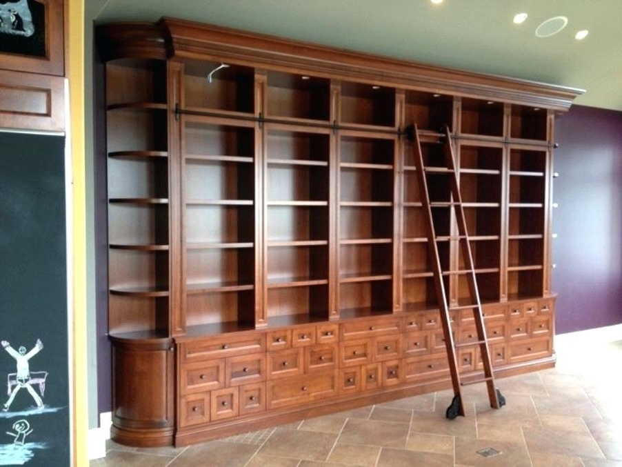Popular Bookcase Ladder And Rail Bookcase With Ladder Rail Picture For Bookcases With Ladder And Rail (View 9 of 15)