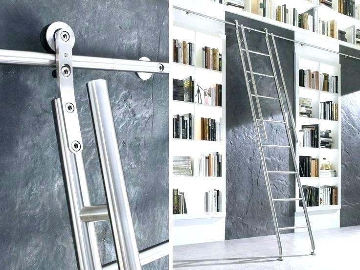Popular Bookcase Ladder Kit Large Size Of Sliding Library Ladder Kit Throughout Sliding Library Ladder (View 7 of 15)