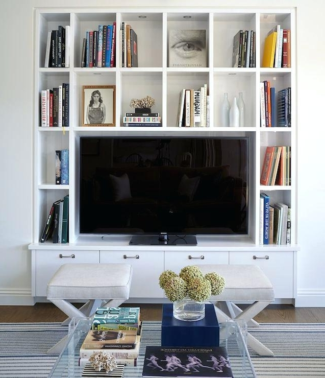 Popular Bookshelf With Tv Space Bookcase With Tv Space Wall Units Full With Tv Bookshelves (View 9 of 15)