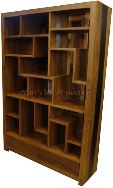 Popular Bookshelves Wooden Pertaining To Wooden Bookshelves (View 8 of 15)