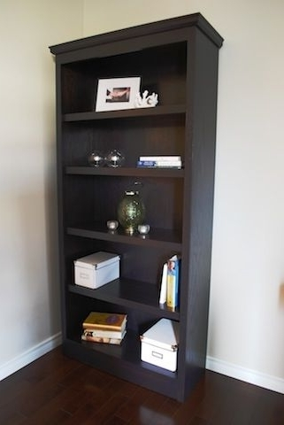 Popular Espresso Bookcases Pertaining To Hand Crafted Espresso Stained Oak Bookcaseclark Wood Creations (View 9 of 15)