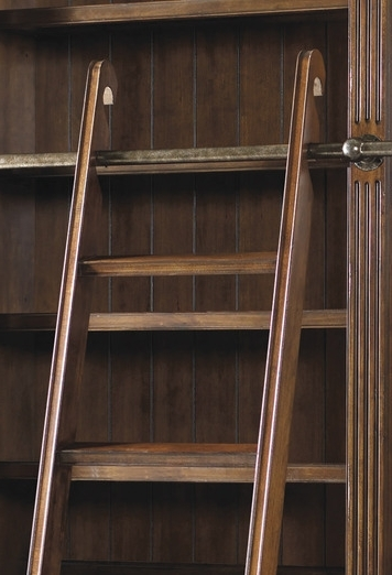 Popular European Renaissance Ii Double Bookcase With Ladder & Rail Intended For Bookcases With Ladder And Rail (View 10 of 15)