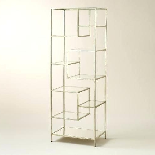 Popular Glass Bookcases And Shelves Metal And Glass Bookcase Outstanding With Glass Bookcases (View 12 of 15)