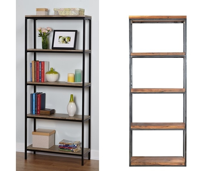 Popular Ikea Hack: Wood And Metal Bookshelf – Real Happy Space Pertaining To Metal Bookcases (View 13 of 15)
