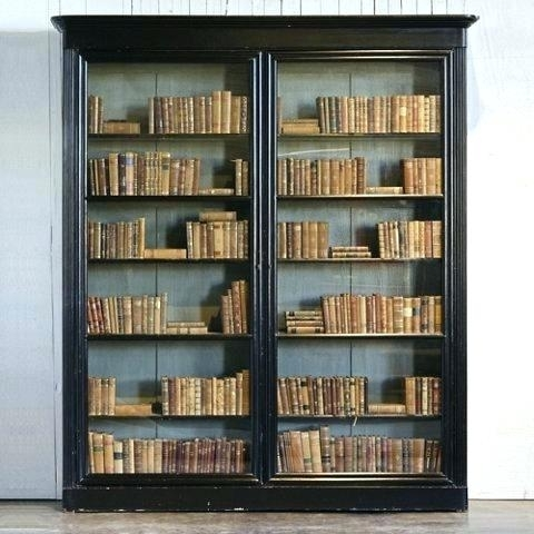 Popular Locking Bookcases Throughout Locksing Bookcase Glass Doors Glass Fronted Bookcases Orphan Glass (View 12 of 15)