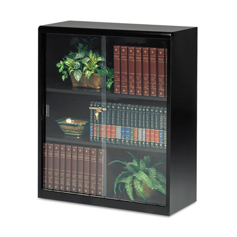 Popular Locking Bookcases With Regard To 3 Shelf Metal Bookcase W/ Locking Glass Doors (View 14 of 15)