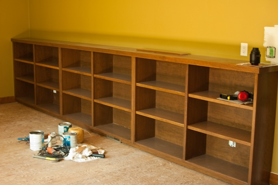 Popular Long Low Bookcase Bookcases Wood : Doherty House – Long Low Bookcase Pertaining To Long Bookcases (View 2 of 15)