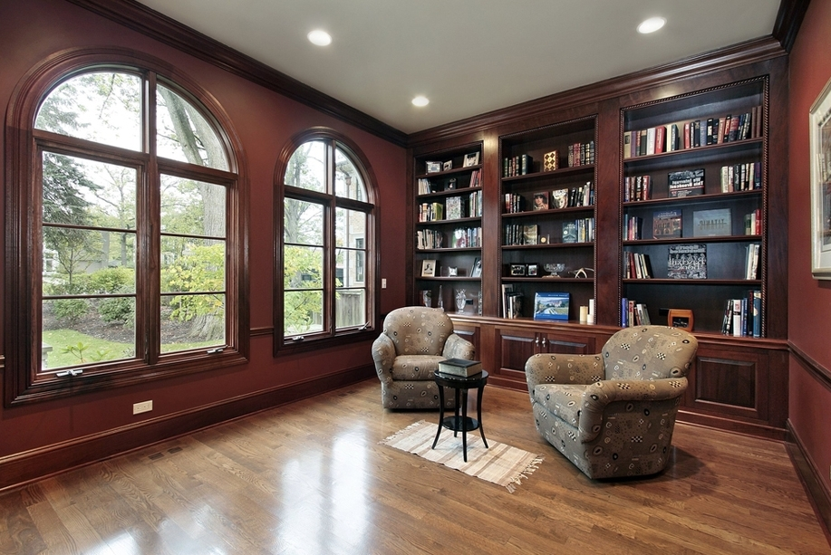 Popular Mahogany Bookcases With Custom Home Media Center Designs – Classy Closets (View 11 of 15)