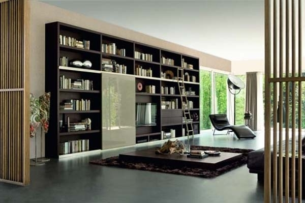 Popular New Contemporary Bookcases Collection, Italian Bookcase Style Intended For Contemporary Bookcases (View 9 of 15)