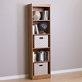 Popular South Shore 5 Shelf Bookcases Within Store Your Books In Narrow Bookcase – Goodworksfurniture (View 9 of 15)