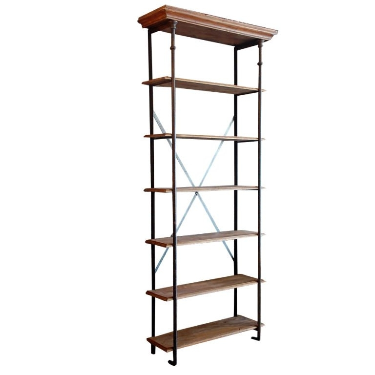 Popular Tall French Industrial Bookcase / Shelves At 1Stdibs In Industrial Bookcases (View 9 of 15)
