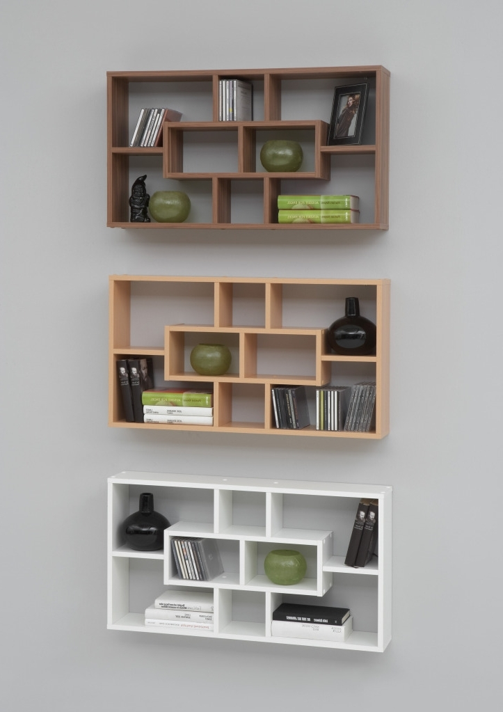 Popular Unique Wall Mounted Shelves Phenomenal Wall Mounted Shelves Modern In Full Wall Shelving Units (View 12 of 15)
