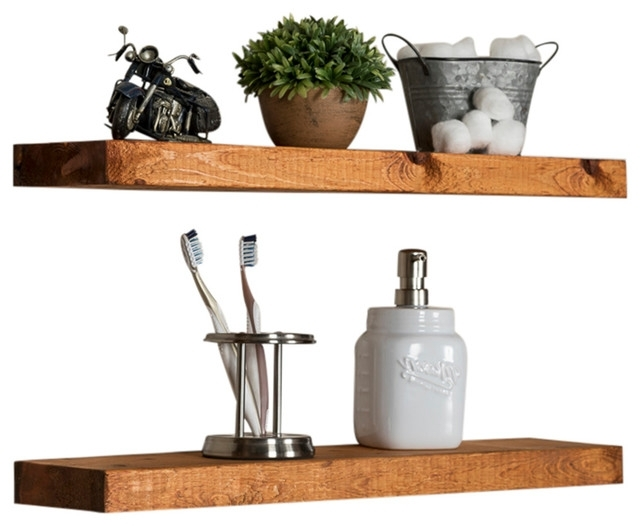 Popular Wall Shelves Pertaining To True Floating Shelves, Set Of 2 – Farmhouse – Display And Wall (View 10 of 15)