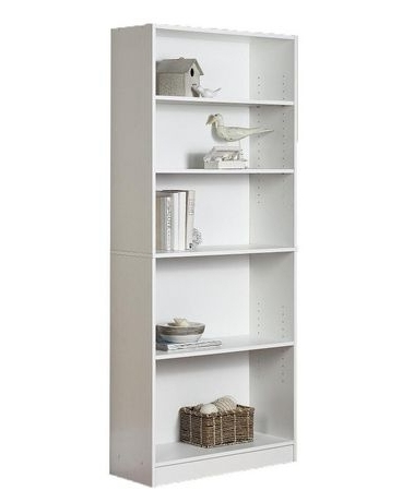 Popular Watch More Like Walmart Bookcases Throughout White 5 Shelf Intended For White Walmart Bookcases (View 9 of 15)