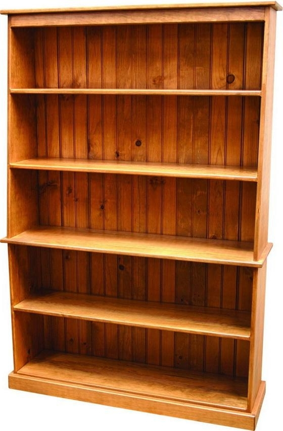 Popular Wood Bookcases Intended For Pine Wood Bookcase (View 8 of 15)