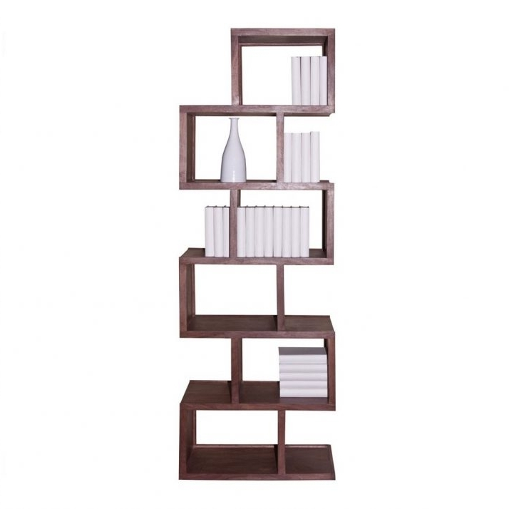 Popular Zig Zag Bookshelves Simple Design Staggering Cool Bookshelves With Zig Zag Bookcases (View 15 of 15)