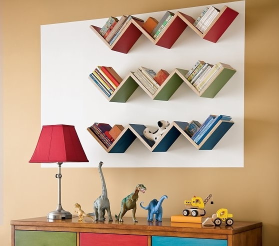 Pottery Barn Kids Regarding Zig Zag Bookcases (View 14 of 15)
