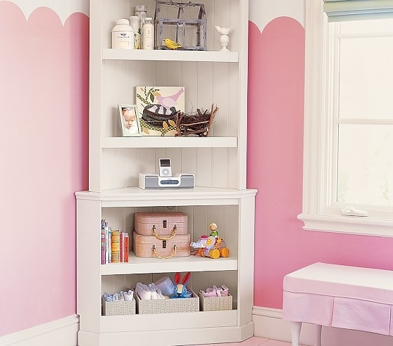 Pottery Barn Kids With Well Liked White Corner Bookcases (View 9 of 15)