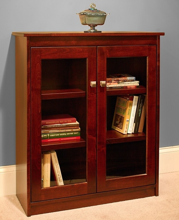 Preferred 40 Inch Wide Bookcases For Candler Bookcase: Full Length Glass Doors – 30Inch Wide – Buckeye (View 11 of 15)