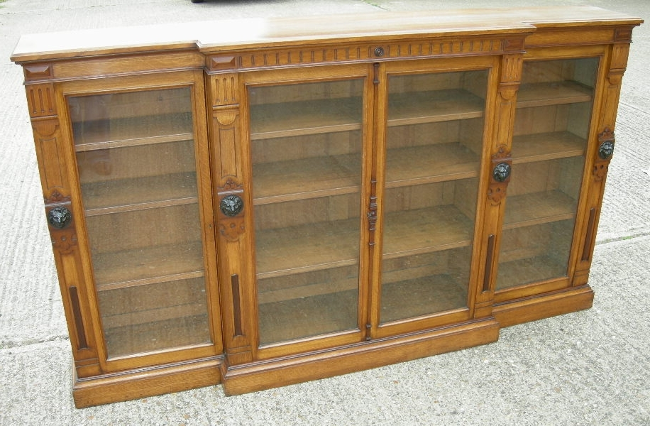 Preferred Antique Furniture Warehouse – Antique Oak Library Bookcase Inside Oak Glazed Bookcases (View 12 of 15)