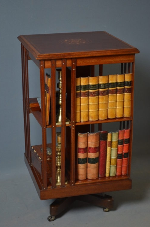 Preferred Antique Revolving Bookcase For Sale, Antique Rotating Bookcase In Rotating Bookcases (View 10 of 15)