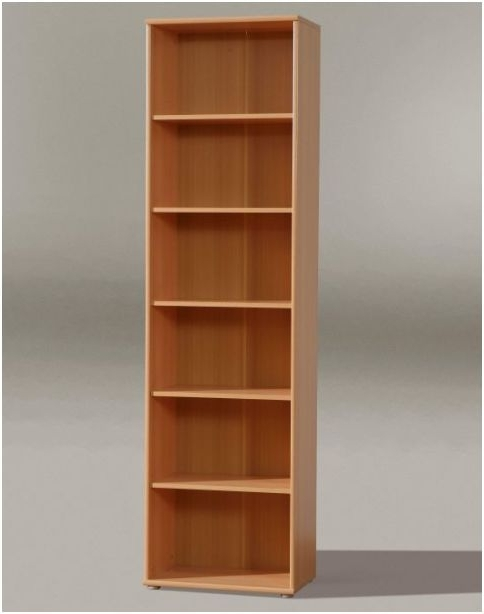 Preferred Beech Bookcases Intended For Tempra Tall Narrow Bookcase Bookshelf Furniture Beech Effect Kr02 (View 4 of 15)
