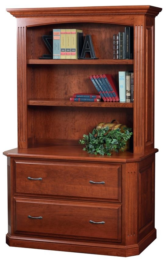 Preferred Buckingham Lateral Filing Cabinet With Optional Bookshelf From Regarding Bookcases With Cabinet Base (View 15 of 15)