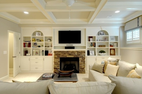 Preferred Built In Bookcases With Tv Regarding Who Designed And Built The Bookcase And Tv Shelving ? (View 6 of 15)