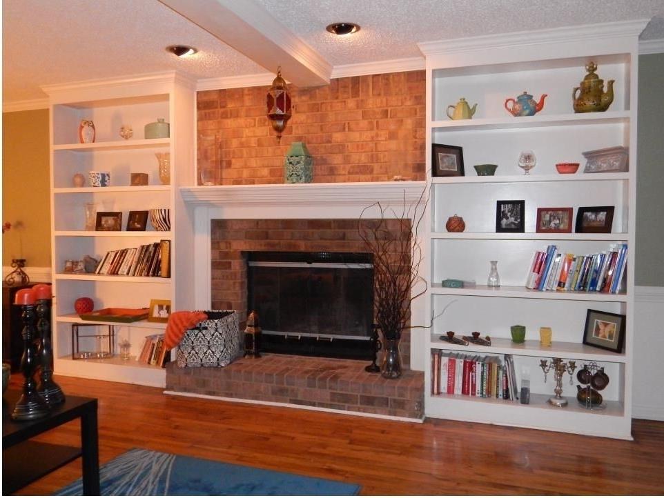 Preferred Custom Bookshelves Flanking A Fireplaceatlanta Bookshelves Within Custom Made Bookshelves (View 13 of 15)