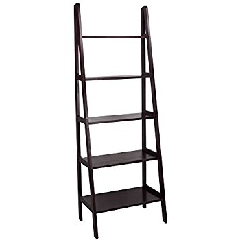 Preferred Ladder Shelves Within Amazon: Casual Home 176 53 5 Shelf Ladder Bookcase, Espresso (View 12 of 15)