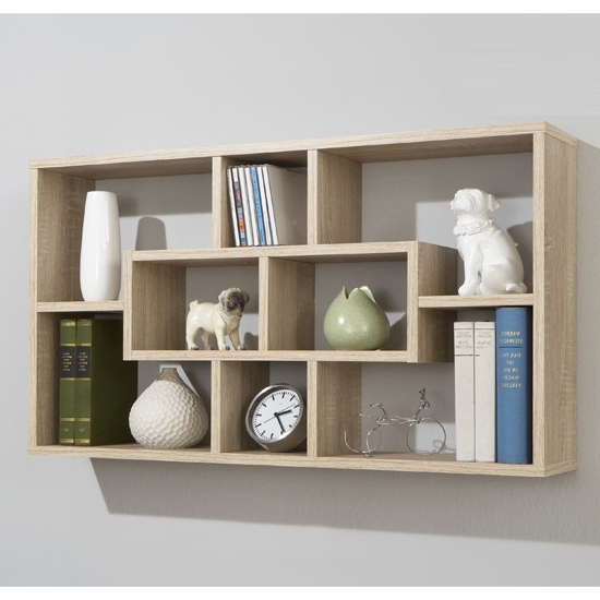 Preferred Oak Wall Shelves With Regard To Canadian Oak Home Wall Shelves, Lasse 13260 Furniture In (View 10 of 15)