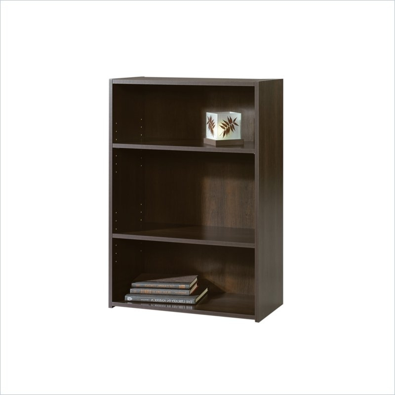 Preferred Sauder Beginnings 3 Shelf Bookcases Inside Sauder Beginnings 3 Shelf Bookcase Cinnamon Cherry –  (View 7 of 15)