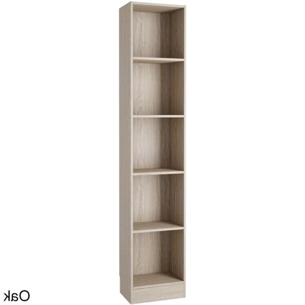 Preferred Tall Narrow Bookcases Regarding Porch & Den Kern Alethea Tall Narrow 5 Shelf Bookcase – Free (View 8 of 15)