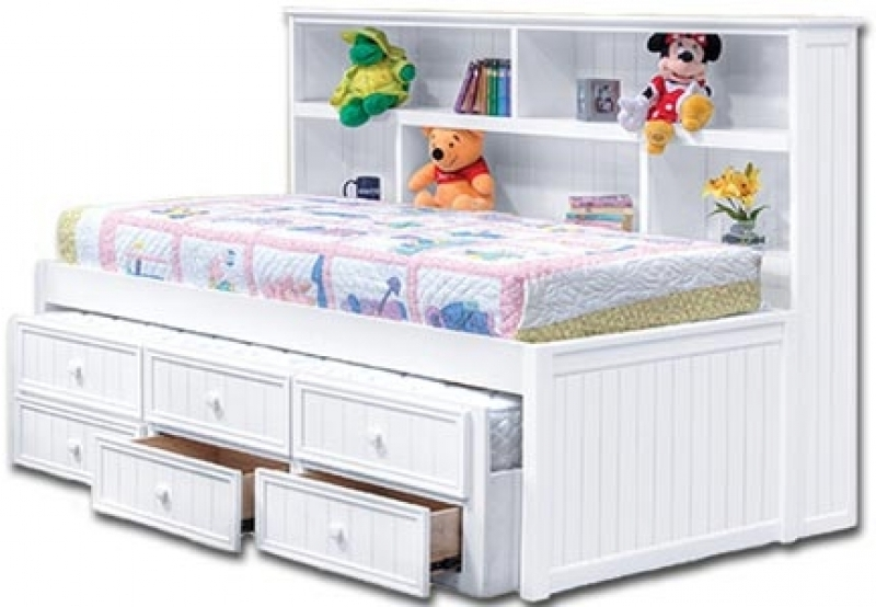 Preferred Twin Headboard Bookcases Within Trundle Bed With Bookcase Headboard Twin Bed With Bookcase (View 7 of 15)