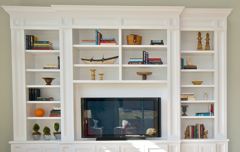 Preferred Wall Units: Stunning Built In Tv Bookcase Bookcases With Tv, Tv In Built In Bookcases With Tv (View 14 of 15)