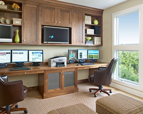 Projects Ideas Built In Home Office Desks – Outdoor Fiture With Most Up To Date Built In Study Furniture (View 12 of 15)