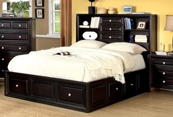 Queen Bed Bookcases Regarding Widely Used Bookcase Bed Queen (Gallery 1 of 15)
