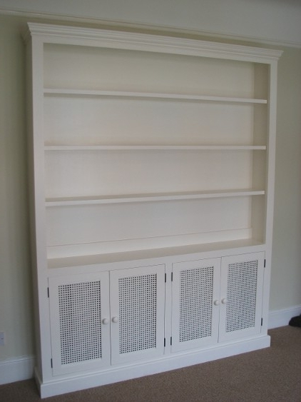 Radiator Cabinet, With Grilles In Lower Inside Radiator Cover With Bookcases Above (View 9 of 15)