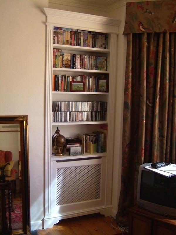 Radiator Cover With Bookcases For Well Known 16 Radiator Shelf Hacks To Improve Your Décor (View 12 of 15)