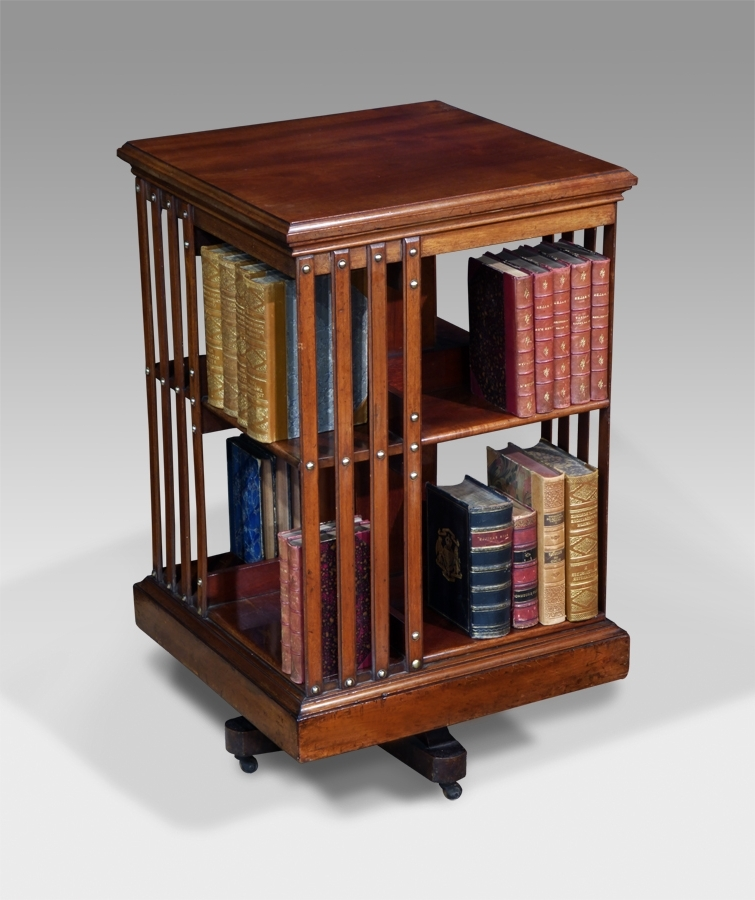 Recent Antique Revolving Bookcase, Rotating Bookcase : Antiques Uk In Rotating Bookcases (View 1 of 15)