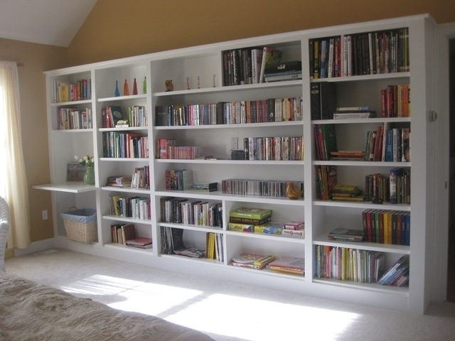 Recent Build Bookcases Wall Pertaining To Wall Units: Inspiring Built In Wall Shelving Units Built In Inside (View 13 of 15)