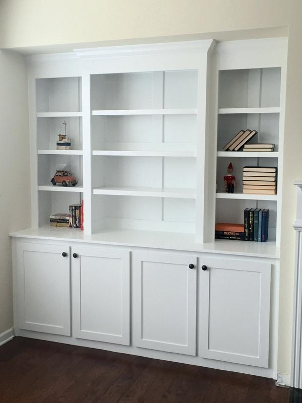 Recent Built In Bookshelves Kits Inside Built In Bookcase Kit Easy Instructions For Built In Bookshelves (View 13 of 15)