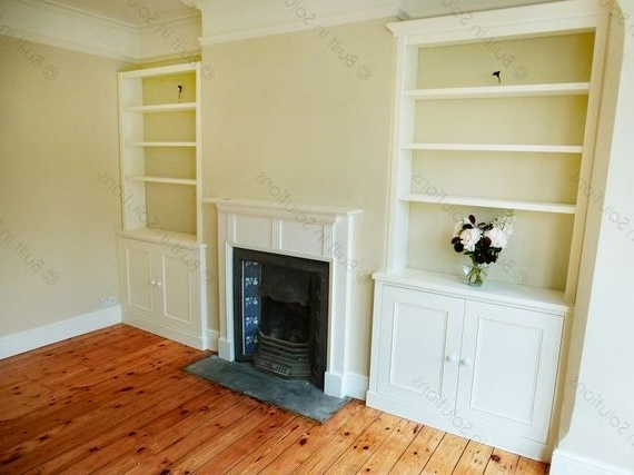 Recent Built In Cupboard Shelving For Tv Alcove Cupboard And Shelves Above  Shows How Good It Can Look (View 12 of 15)
