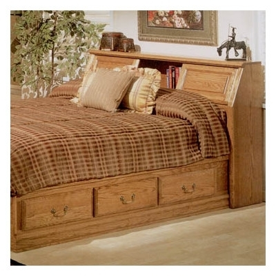 Recent Buy Country Heirloom Pier Bookcase Headboard Only In Warm Rich Throughout Bookcases Headboard King (View 11 of 15)