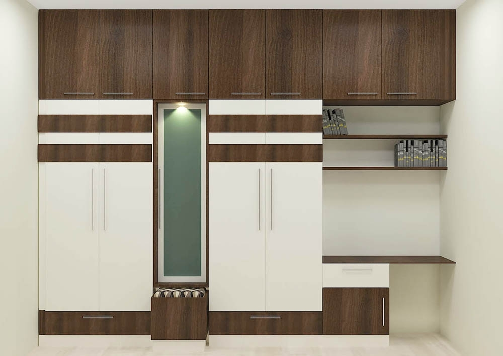 Recent Buy Flowering Cherry Wardrobe With Laminate Finish Online In India Throughout Study Cupboards (View 12 of 15)