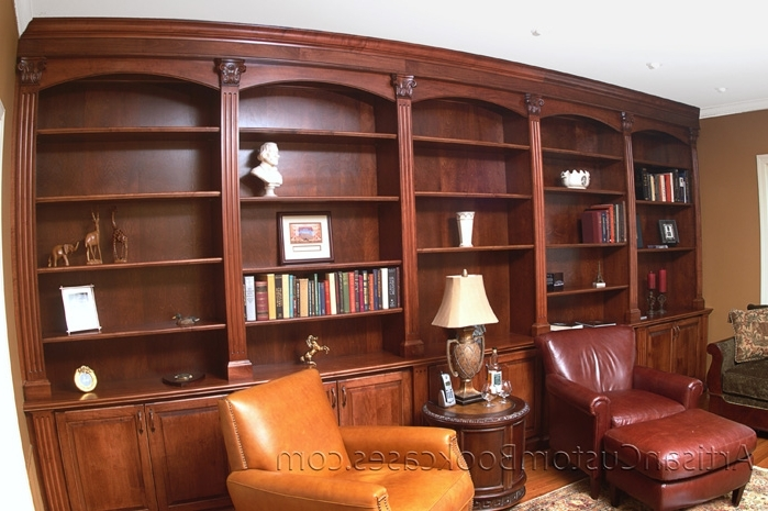 Recent Classic Custom Home Library – Artisan Custom Bookcases For Classic Bookcases (View 12 of 15)