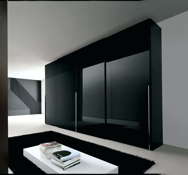 Recent Dark Wardrobes With Regard To Wardrobes ~ Wardrobe With Sliding Doors And Drawers Modern (View 12 of 15)
