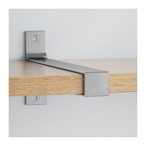 Recent Ekby Bjärnum/ekby Järpen Wall Shelf Oak/aluminium 239X28 Cm – Ikea Intended For Oak Shelves (View 14 of 15)